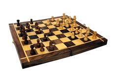 Indian Handicrafts 12X12 inches Folding Hand Carved Wood Chess Board With Magnetic Piece With Premium Quality Playing Chess/Christmas gift