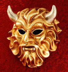 "Venetian mask ""Diavolo Oro Argento"" IN STOCK FOR IMMEDIATE DELIVERY"
