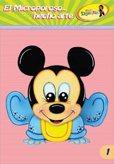 Micky Mouse Bebe, Mickey E Minnie Mouse, Walt Disney, Paper Piecing, Holidays And Events, Disney Characters, Fictional Characters, Applique, Cute Animals