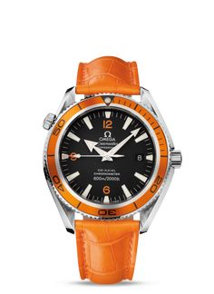 2909.50.38 : Omega Seamaster Planet Ocean 600M Co-Axial 42mm Orange / Alligator