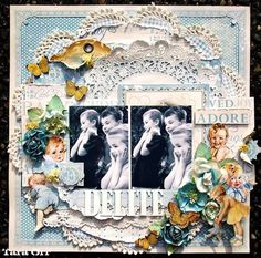 Beautiful LO by @Tara Harmon Orr with our Little Darlings collection #graphic45 #layouts