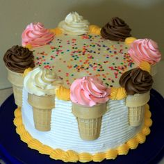Ice cream cone cake CUTE!