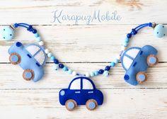 Handmade With Love 💖 von KarapuzBoutiqueShop Felt Crafts, Fabric Crafts, Felt Games, Diy Felt Christmas Tree, Felt Banner, Baby Frame, Felt Mobile, Baby Sewing Projects, Felt Baby