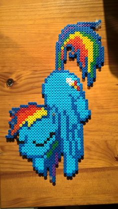 MLP Rainbow Dash Hama beads by Yffrit