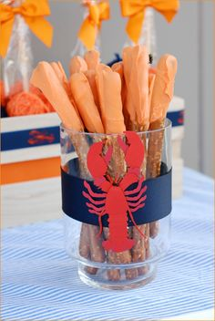 Beach themed party.  These icing covered pretzel sticks are SO good.  it's the sweet n' salty combo that does it.