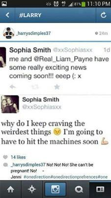 So there's a lot of rumors going around that Sophia might be pregnant...>>> Oh dear god if shes doing this for attention....>>>> Lets hope not....