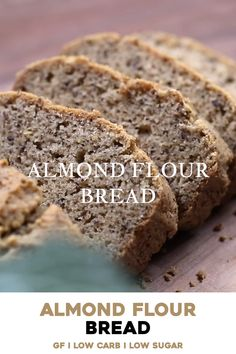 prima_ina Lecker The BEST low-carb Almond Flour Bread recipe that is easy and quick to make. Gluten-free, low sugar, paleo and keto friendly. Great to use as a sandwich bread or to slice for breakfast. Banana Bread Almond Flour, Baking With Almond Flour, Gluten Free Banana Bread, Almond Flour Recipes, Keto Bread, Coconut Flour, Gluten Free Sugar Free Bread Recipe, Gluten Free Multigrain Bread Recipe, Keto Almond Bread
