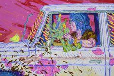 Taylor Mckimens - Things you need - 2013 - Acrylic acryla-gouache and flashe on canvas - 122 x 183 cm