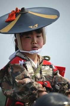 Soma Nomaoi Parade,Fukushima Prefecture, so adorable! Precious Children, Beautiful Children, Beautiful People, We Are The World, People Around The World, Art Japonais, Child Face, Folk Costume, Costumes
