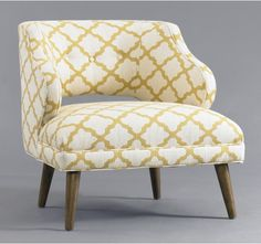from Dwell... fun chair, loving that fabric!