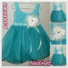 Girl tulle dress pattern.