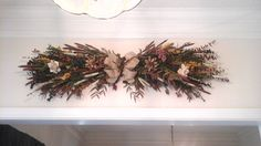 Floral Swag, Rustic Dried Floral Wreath, Grapevine, Arrangement, Eucalyptus, Living Room, Wall, Window, Door, Kitchen Country decor by GiftsByWhatABeautifu on Etsy