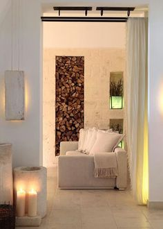 wood storage | home spa