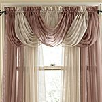 Toga Valance.  I wonder how this would look across the top of a sliding glass door?
