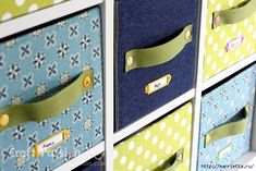 Ящики для хранения из картонных коробок. Мастер-класс. Обсуждение на LiveInternet - Российский Сервис Онлайн-Дневников