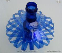 Las mejores ideas inspiradoras y creativas para reciclar botellas de plástico de color azul. Top 10 creative ideas to recycle blue plastic bottles