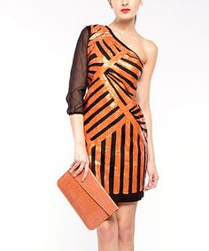 Take a look at this Orange Charlie Dress by Almatrichi on #zulily today!