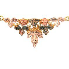 Superb Black Hills Gold Necklace  10K Gold by EncoreJewelryandGems $338