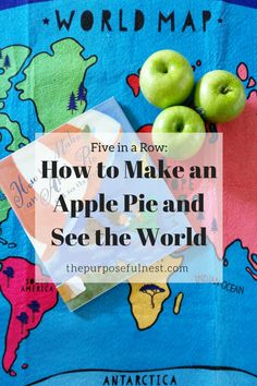 Looking for a fun craft and other activities to go with How to Make an Apple Pie and See the World? Explore the world through this book with these ideas. Five In A Row, The Row, See World, Kindergarten Books, Teaching The Alphabet, Homeschool Curriculum, Homeschooling, World Geography, World Crafts