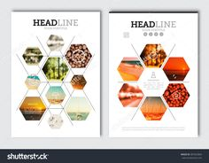 Business Brochure Design Template. Vector Flyer Layout, Blur Background With Elements For Magazine, Cover, Poster Design. A4 Size. - 387625864 : Shutterstock