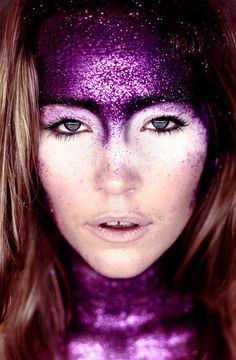 purple glitter chic