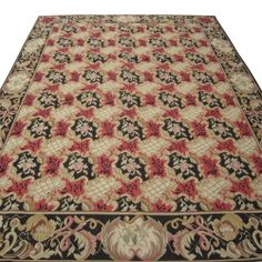 8' x 10' Hand-woven Wool French Aubusson Flat Weave Rug New Free Shipping 678