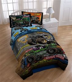 Marvelous Monster Jam Twin Comforter