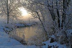 "winter mood - Winter morning at the ""Schmutter"" near Augsburg."