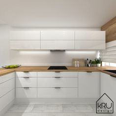 Scope of the project: kitchen - 2 versions of KRU Design Kitchen Pantry Design, Luxury Kitchen Design, Interior Design Kitchen, Living Room Kitchen, Home Decor Kitchen, Home Kitchens, Modern Kitchen Interiors, Modern Kitchen Cabinets, Cuisines Design