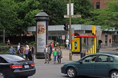Street Column / Colonne de rue - #Montreal #StreetFurniture #OutdoorAdvertising #AffichageExterieur #AstralOutOfHome #AstralAffichage #Publicite #Ads #Billboard #PanneauAffichage