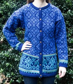 Ravelry: 58-8 Cardigan with Lilies pattern by DROPS design
