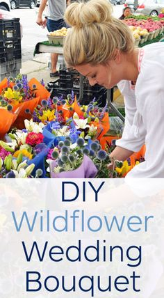 How to make a DIY wildflower wedding bouquet for just $25!