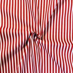 """Baumwollstoff """"Streifen Classic"""" in rot-weiss"""
