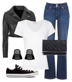 """""""Classic Nerdy and Punk"""" by dancingwdaleks on Polyvore featuring Converse, Levi's, Glamorous, James Perse and STELLA McCARTNEY"""
