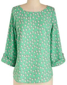 cat print top by modcloth