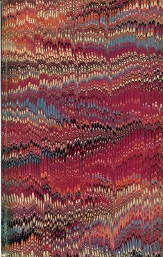 Vintage 19th-century marbled paper, nonpareil pattern from the collection at the University of Washington.