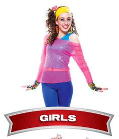 The 80s Fashion For Girls Girls s Costumes
