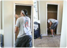 How to turn a coat closet into an entryway bench/mudroom