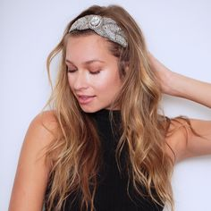 Bourbon Headband #hairbands #lovetassel Every TASSEL Headband is carefully crafted using delicate seed beads, rhinestone chains and jewels, all strung and set using a tambour technique that is completely done by hand. Each band is backed with genuine leather and has an adjustable strap that is finished with a signature TASSEL charm.