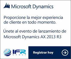 ¿Quieres asistir en vivo y en directo al lanzamiento más importante del año? El día 10 de abril no te pierdas detalle del Lanzamiento mundial de Microsoft Dynamics AX 2012 R3 #MSDYNAX #AX2012R3 Experiences te lo contaremos en: http://www.ifr.es/es