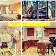 Cabin 1 | Among The Firs  Sleeps 8 Rental Rates range from $344 to $491 per night | 3 bedrooms, 2 & 1/2 bathrooms | Fully equipped kitchen, including a dishwasher | Fireplace | Gas BBQ | Satellite TV | DSL/WiFi | Current Special: 7th Night FREEEEEEEEEE!!!