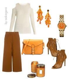 """Orange"" by aakiegera on Polyvore featuring мода, Jimmy Choo, Velvet by Graham & Spencer, TIBI, Tory Burch и Voluspa"