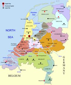 Friesland, Frisia, on the map of The Netherlands (Wikipedia); from Frisian descent, I was born and raised in Zuid-Holland.