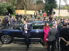 Emma Wright  @EmmaWrightITV: Duke and Duchess of Cambridge arrive at XLP community projects event in Gipsy Hill