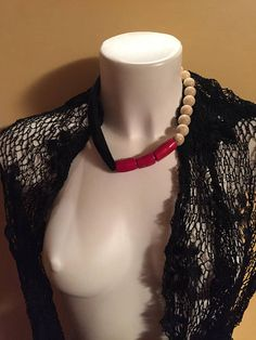 Collana CORALLO realizzata a mano con perle di ceramica