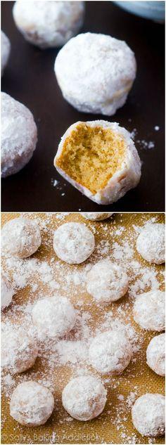 Mini muffins that taste like powdered sugar donuts. Baked, not fried! @sallybakeblog