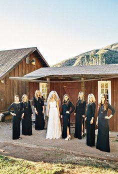 Brides.com: . Black maxis are sharp and chic.