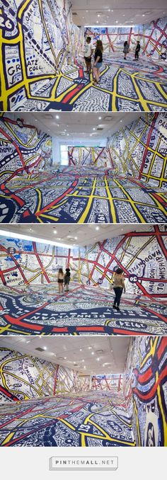 Pentagram designer Paula Scher draws an immersive map of Philadelphia at Temple Contemporary that invites viewers to step into the city and gives Google Maps a run for its money. | Grafik
