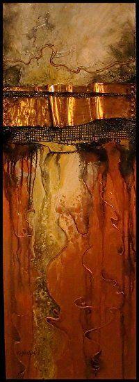 Carol Nelson Fine Art | Fusion III  Acrylic on Canvas  36 x 12