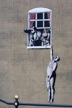 Banksy love this carefully crafted street art <3